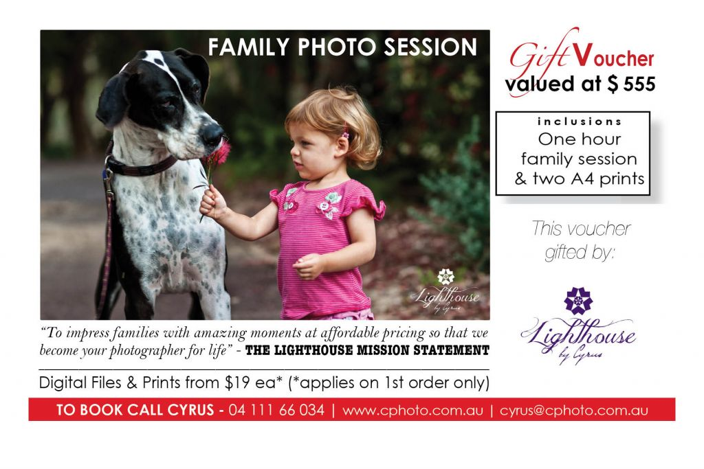 Family Session Voucher July 2016